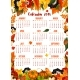 Autumn Nature Vector 2018 Calendar Template - GraphicRiver Item for Sale