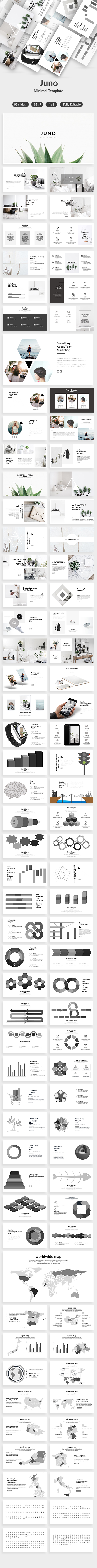 Juno Minimal Powerpoint Template - Creative PowerPoint Templates