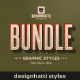 Retro Vintage Text Styles Bundle - GraphicRiver Item for Sale