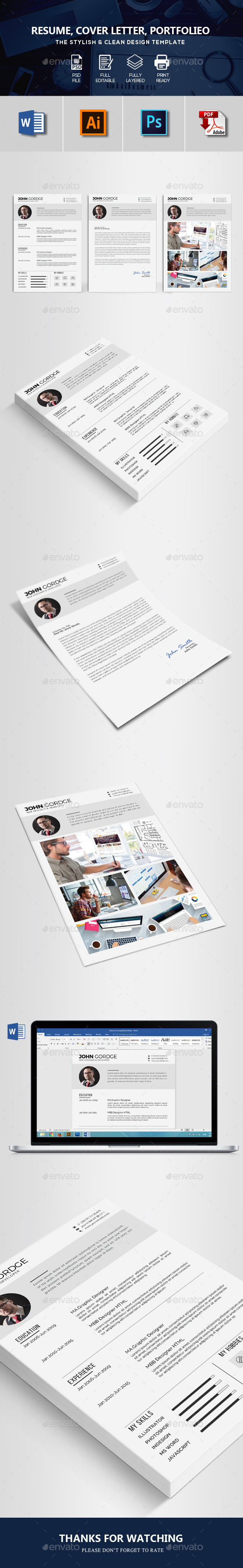 GraphicRiver CV Resume 20465957