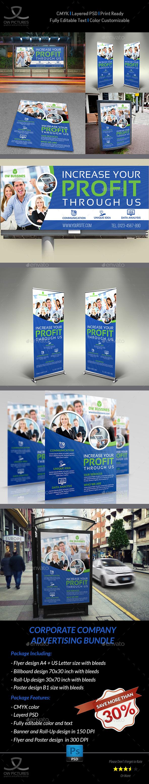 Corporate Company Advertising Bundle Vol.2 - Signage Print Templates