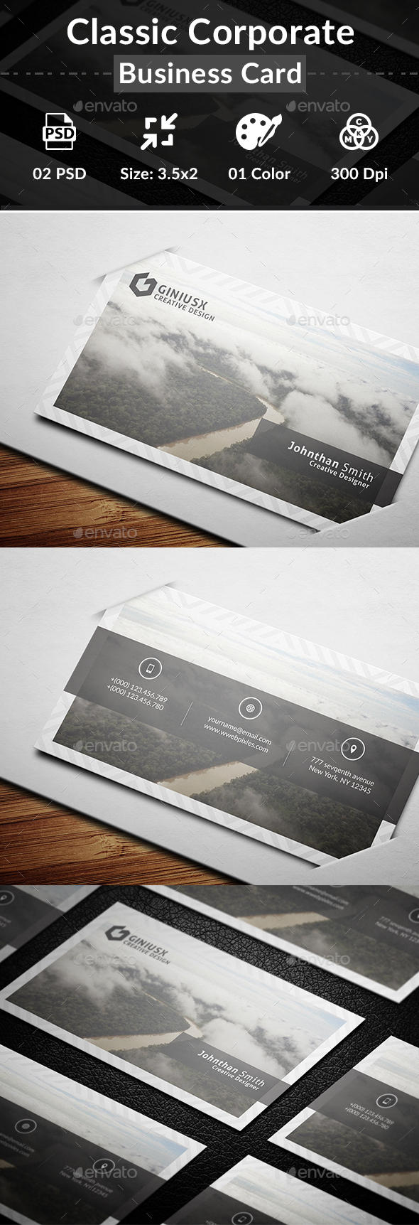 Classic Corporate Business Card - Business Cards Print Templates