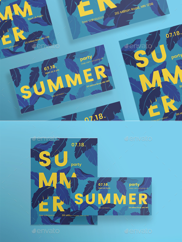 Summer Leaves Flyers - Clubs & Parties Events