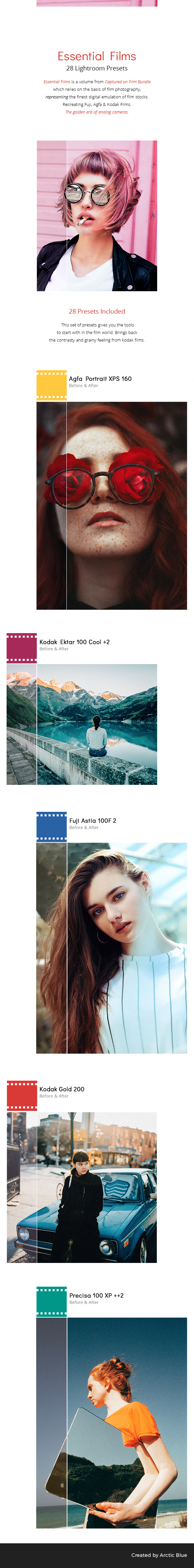 28 Essential Films - Lightroom Presets - Film Lightroom Presets