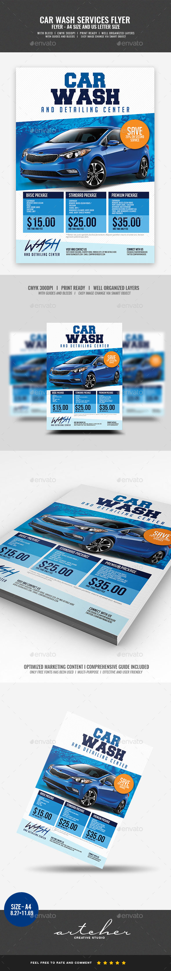 Car Wash Services Flyer - Commerce Flyers