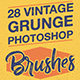 Vintage Grunge Photoshop Brushes