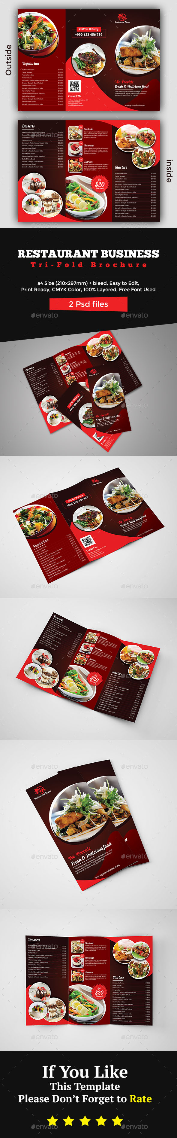 GraphicRiver Restaurant Brochure Template 20466316