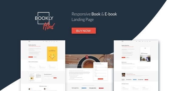 ThemeForest Bookly The Perfect Landing Page Book & E-book Boost Your Conversions 20466372