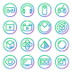 Gradient Rounded Line icons for Virtual Reality. - GraphicRiver Item for Sale