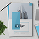 The Blue Annual Report - GraphicRiver Item for Sale