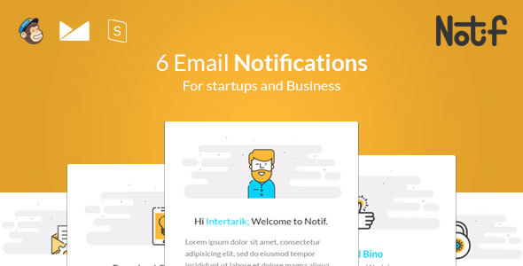 Notif - Email Notifications templates - Email Templates Marketing