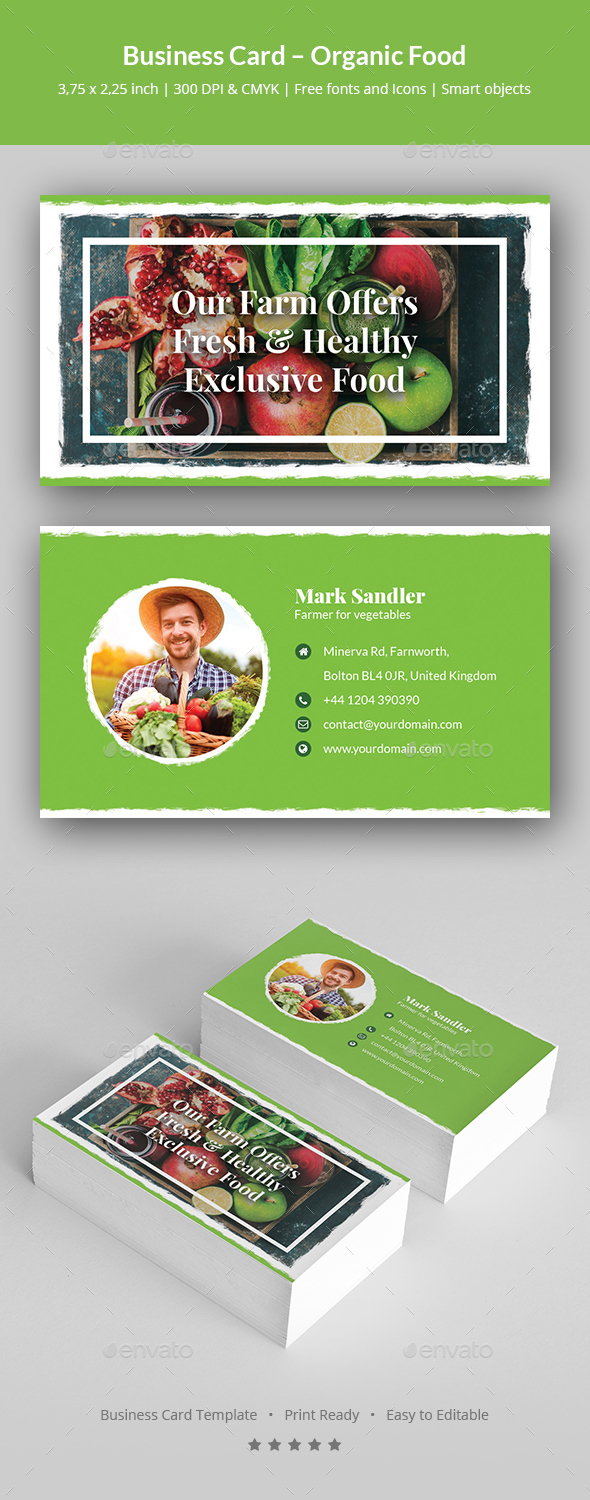 Business Card – Organic Food - Corporate Business Cards