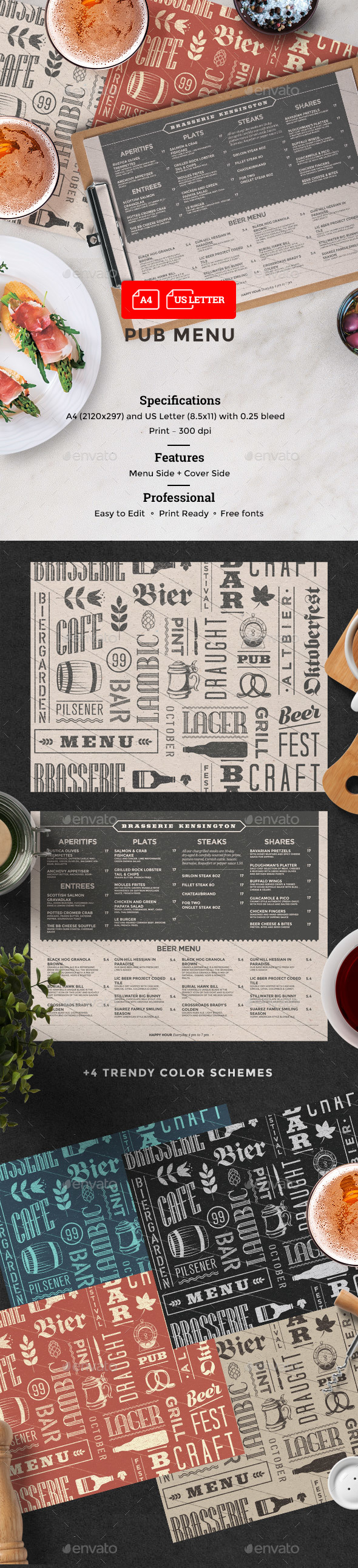 GraphicRiver Beer Cafe Menu 20466695