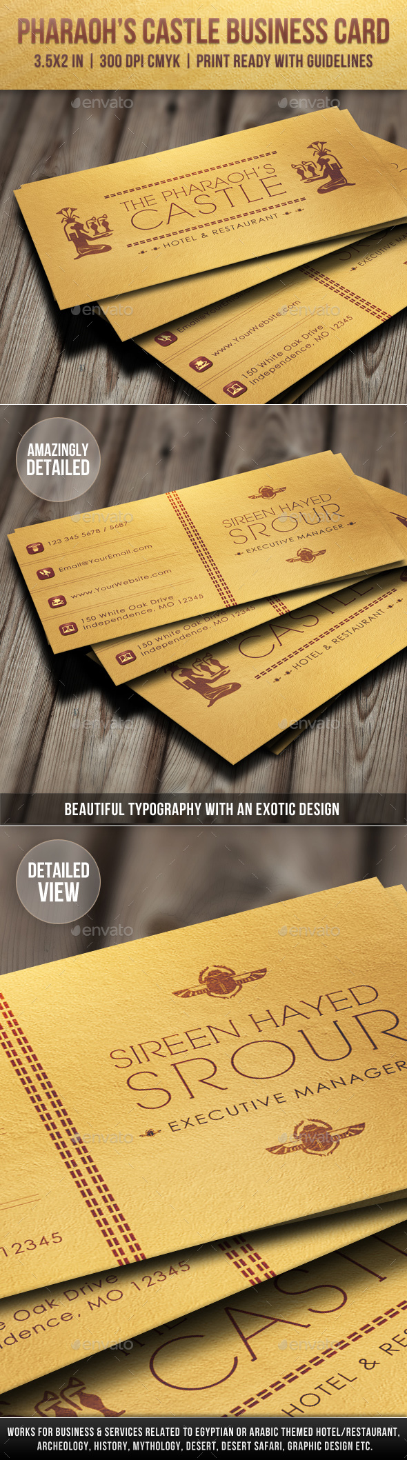 Vintage business card templates designs from graphicriver reheart Choice Image