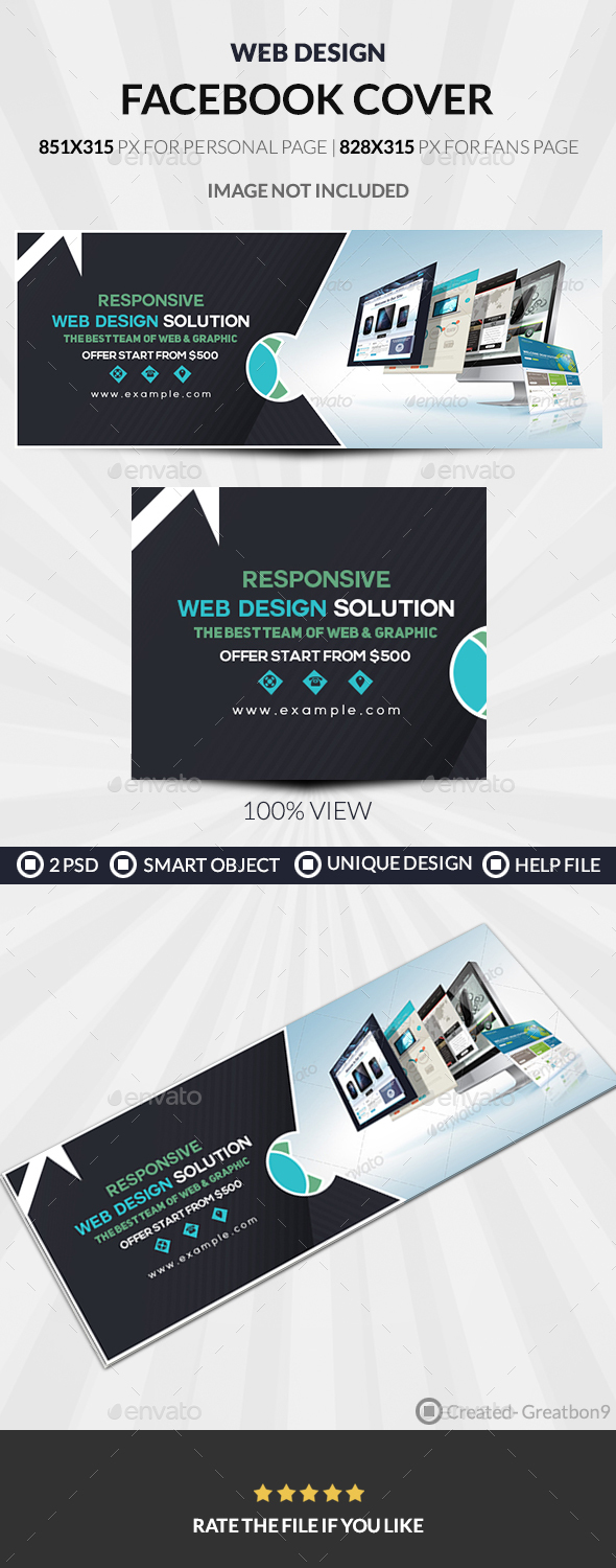 GraphicRiver Web Design Facebook Cover 20466895