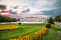 Belvedere palace at sunset in Vienna, Austria - PhotoDune Item for Sale