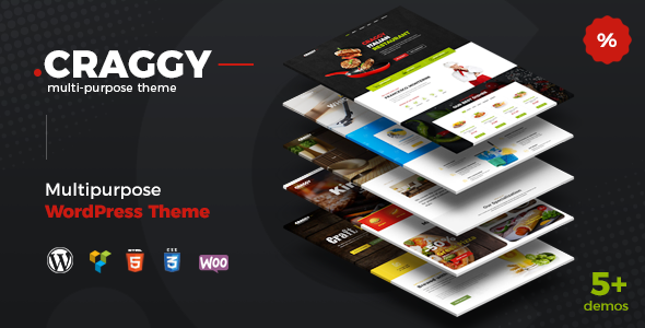 ThemeForest Craggy Food and Services Multipurpose WordPress Theme 20466924