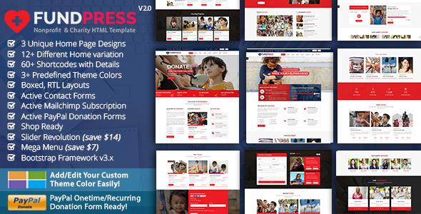 FundPress - Nonprofit, Crowdfunding & Charity HTML5 Template