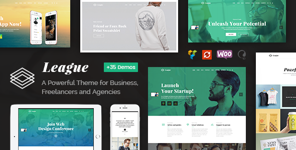 ThemeForest League A Powerful Theme for Business Freelancers and Agencies 20467206