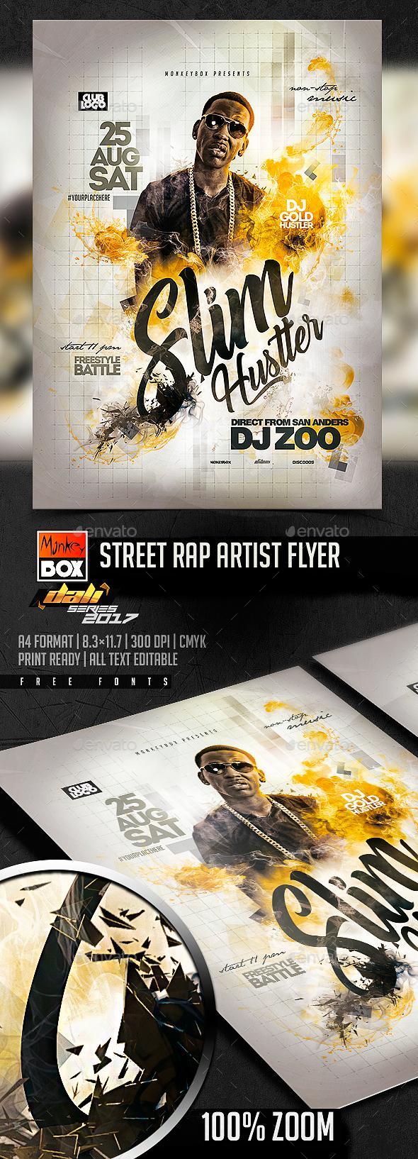 Street Rap Artist Flyer - Events Flyers