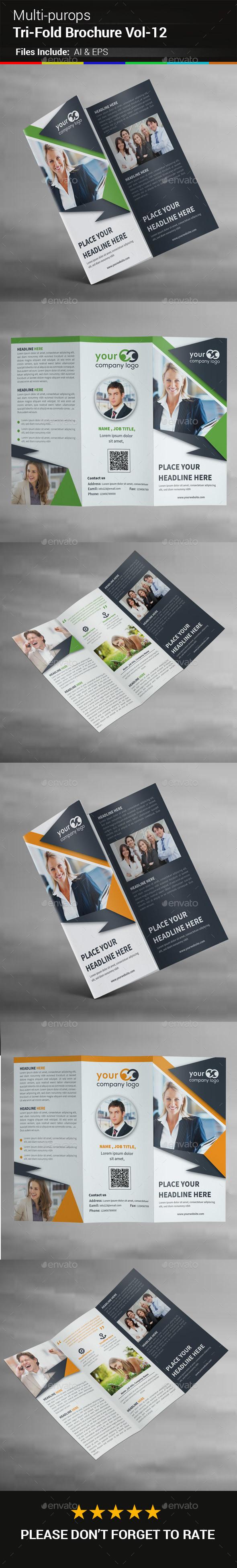 Multipurpose Business Tri-Fold Brochure Vol-12 - Corporate Brochures