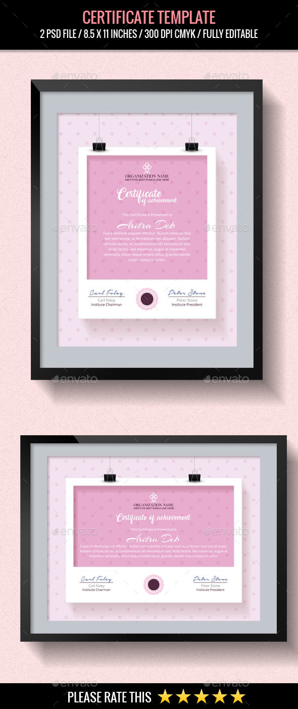 GraphicRiver Multipurpose Certificates Template 20467403