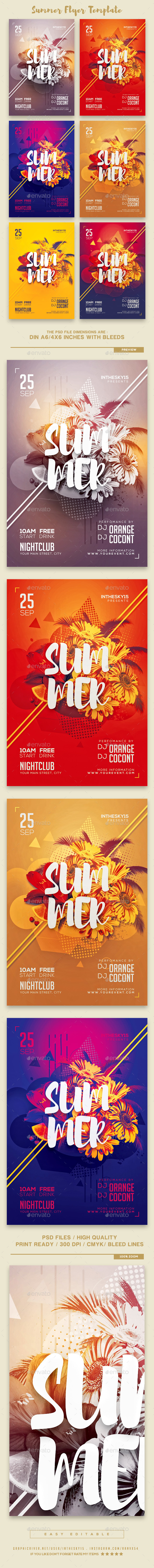 GraphicRiver Summer Flyer Template 20467445