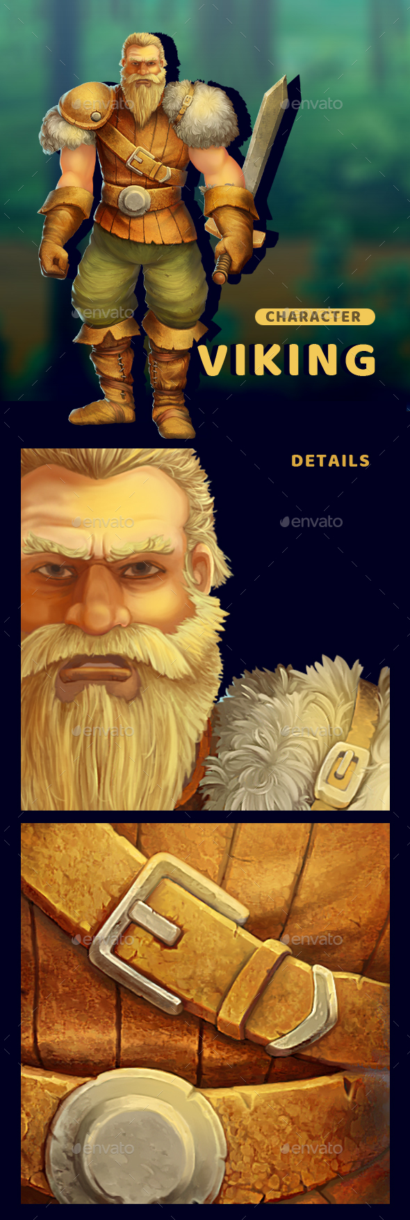 GraphicRiver Viking Character Ilustration 20467498