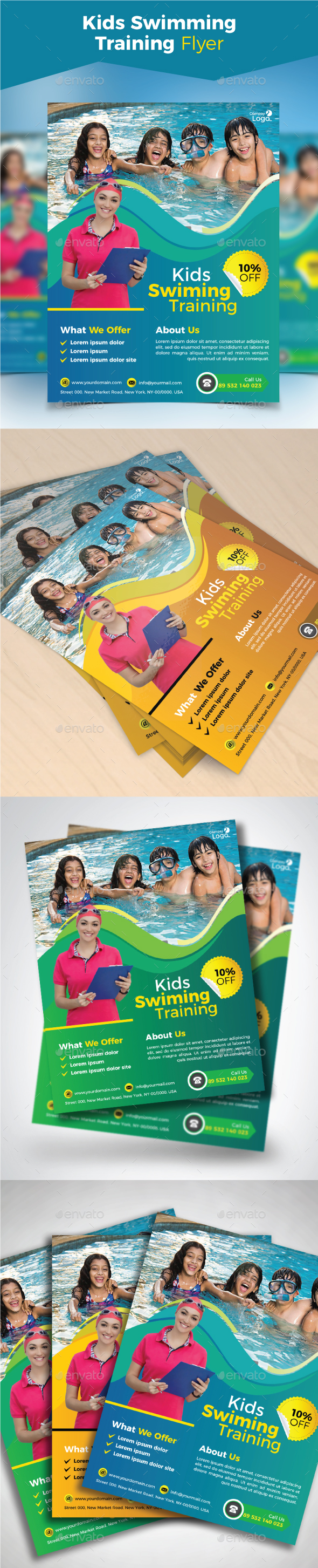 Kids Swimming Training Flyer - Sports Events