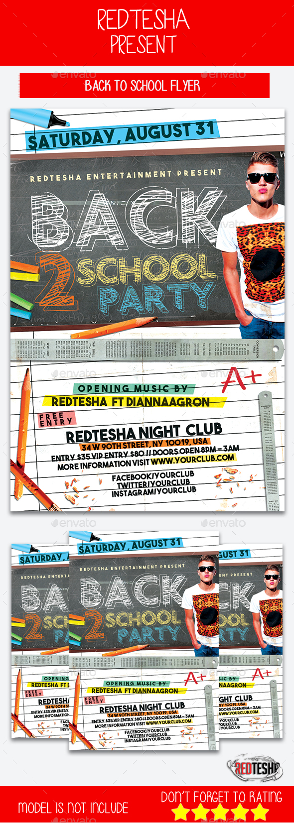 Back to School - Events Flyers