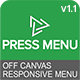 Press Menu - Responsive Off Canvas Menu