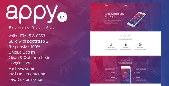 appy | App Landing Page