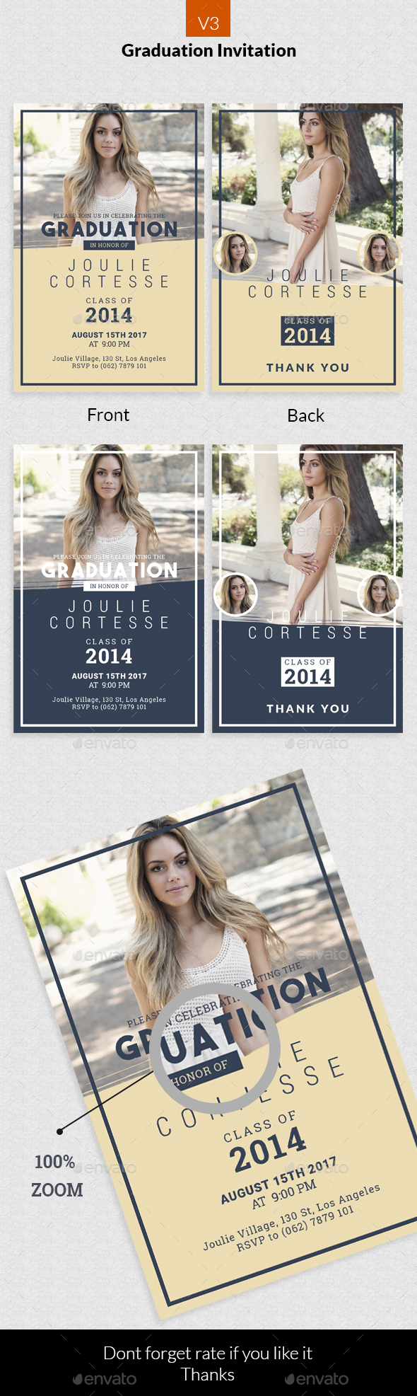 Graduation Invitation v3 - Invitations Cards & Invites
