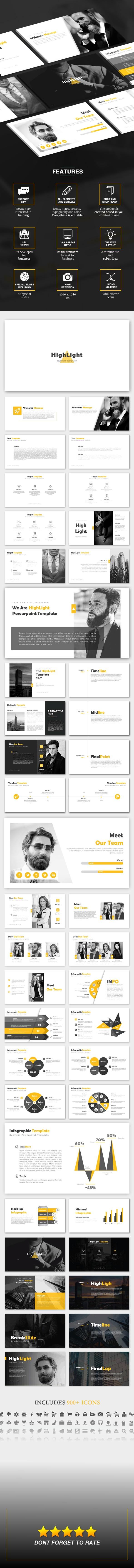 Highlight - Business Powerpoint Template