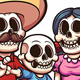Mexican Skeleton Family