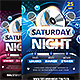 Saturday Night Party Flyer v2 - GraphicRiver Item for Sale