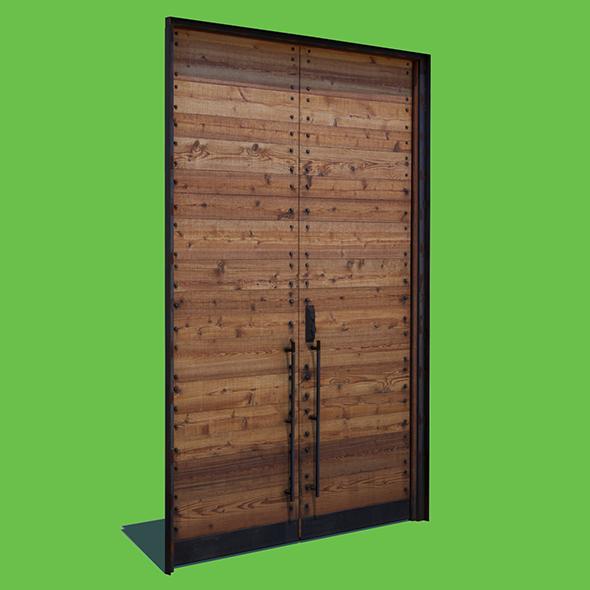 Wooden Door - 3DOcean Item for Sale