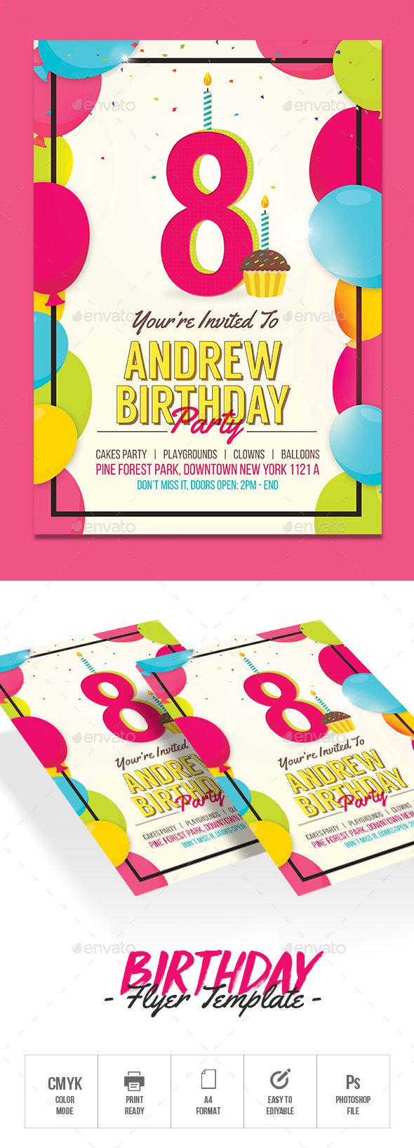 Kids Birthday Invitation - Events Flyers