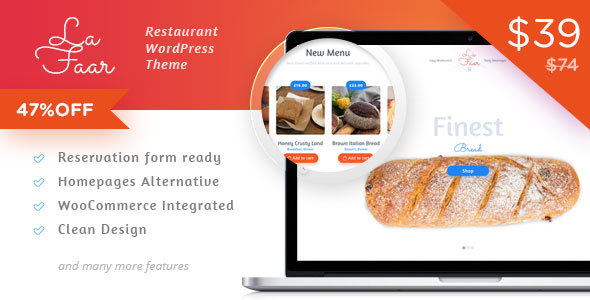 Lafaar - Restaurant & Food Menus WooCommerce Theme