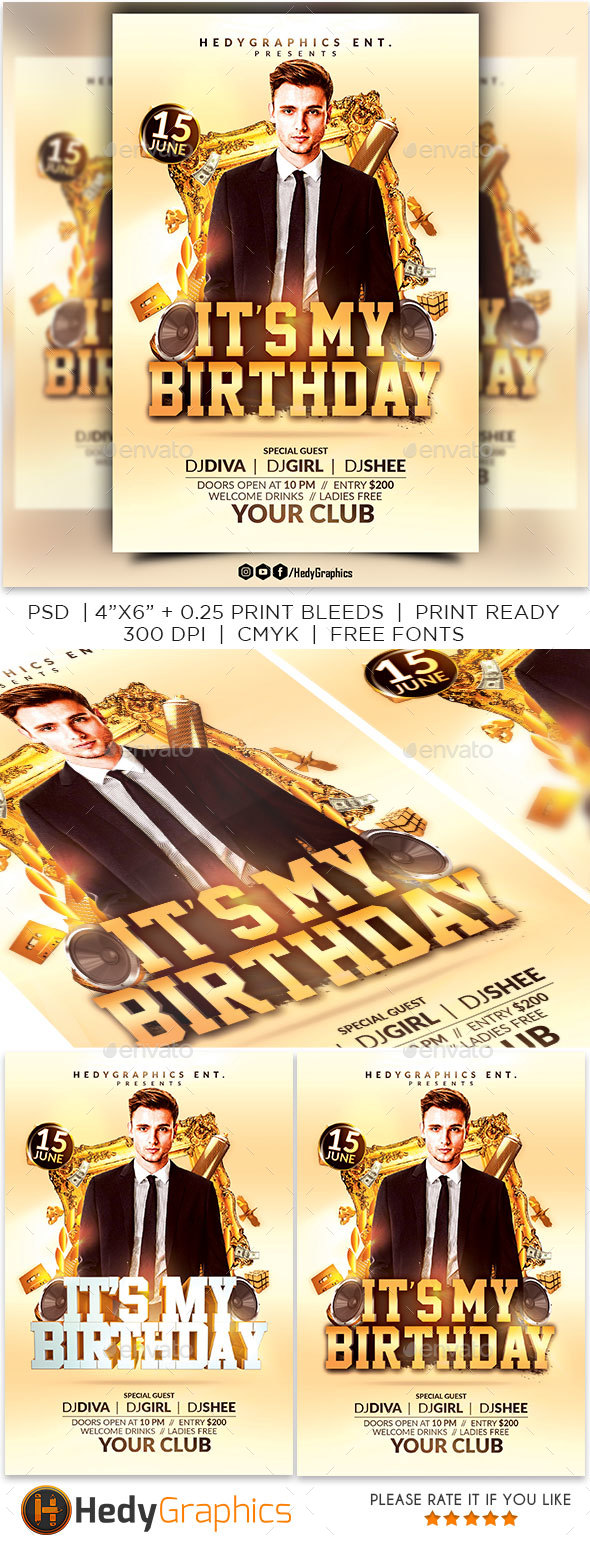 It's My Birthday - Events Flyers
