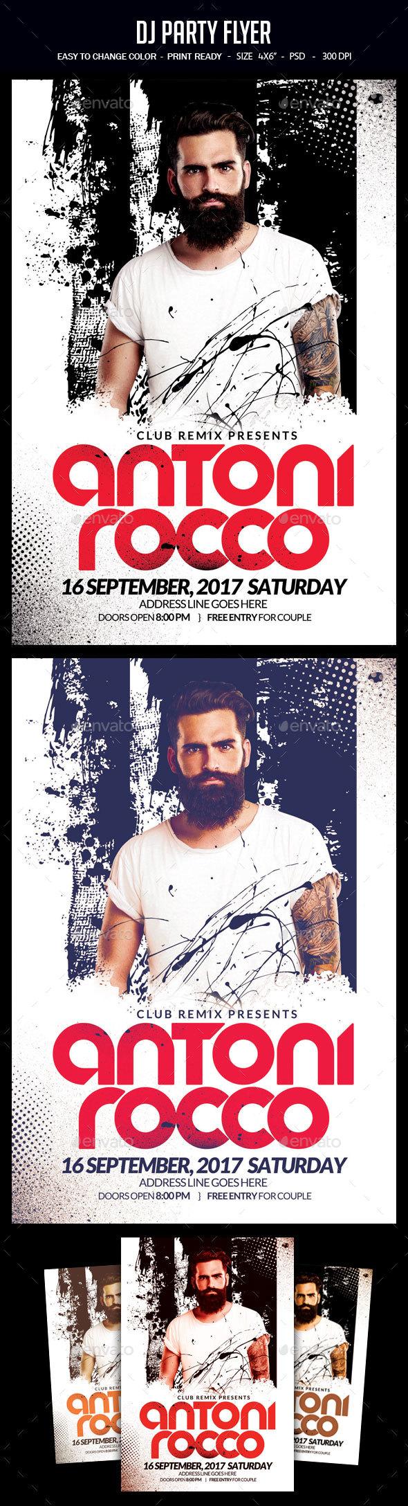 GraphicRiver DJ Party Flyer 20468389