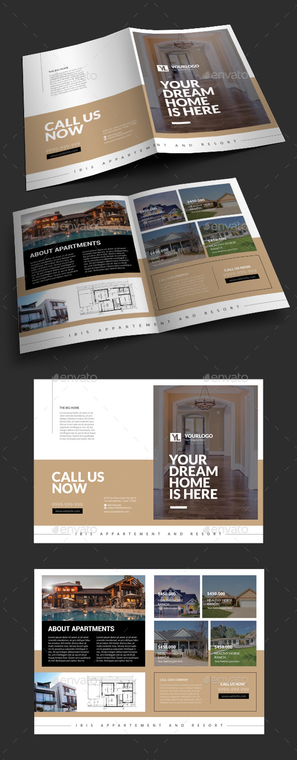 Real Estate Bifold Brochure - Corporate Brochures