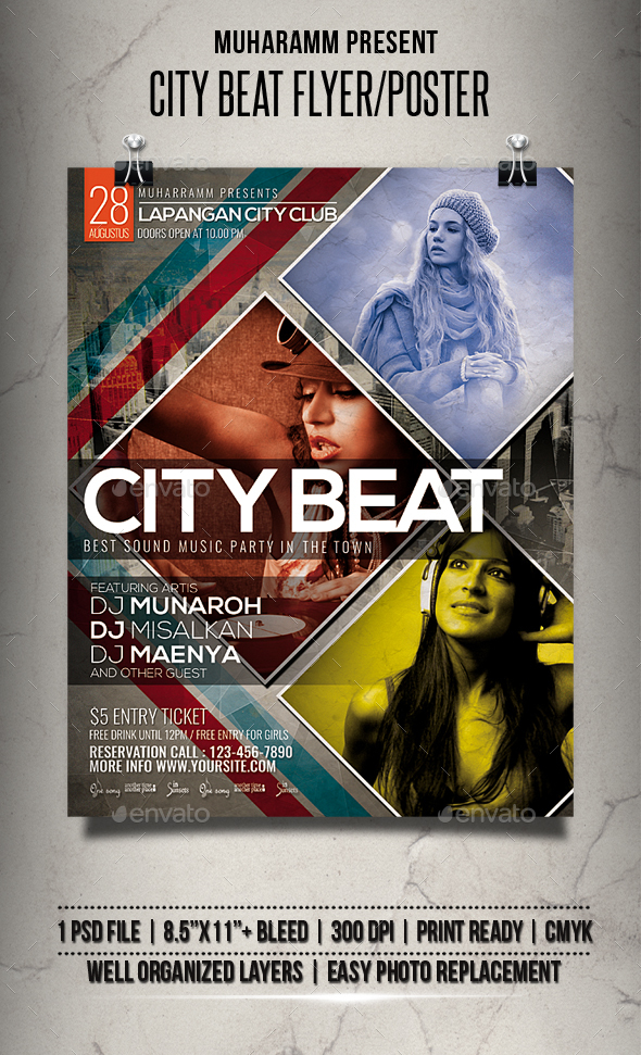 City Beat Flyer / Poster - Clubs & Parties Events