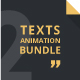 Texts Animation Bundle Pack 2 - VideoHive Item for Sale