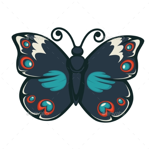 GraphicRiver Butterfly with Colorful Wings 20468606