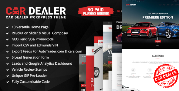 Auto Dealer – Automotive Responsive WordPress Theme (Small business)