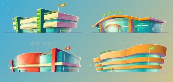 Set of Vector Cartoon Illustrations, Various - Objects Vectors