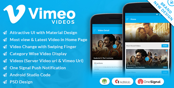 Vimeo Video App with Material Design - CodeCanyon Item for Sale