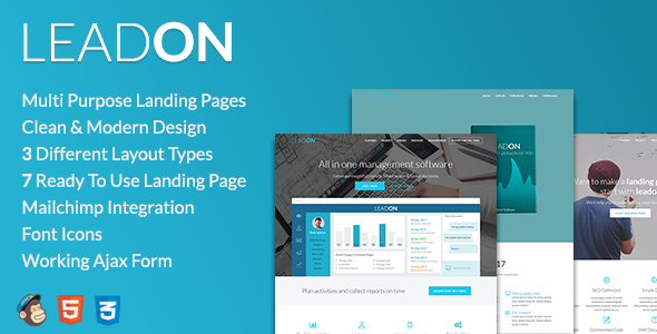 LeadOn - Multi-Purpose Landing Page Pack