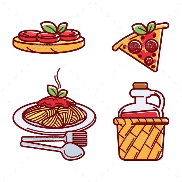 Set of Italian Food - Food Objects